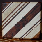 Cutting board with diagonal alignment